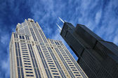 Willis Tower and Three Eleven South Wacer — Foto Stock