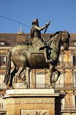 Statue of Felipe III - Plaza Mayor, Madrid, Spain — Stock Photo