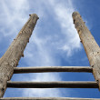 Ladder and the sky — Stock Photo