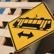 Tramway sign — Stock Photo