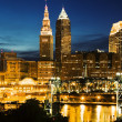 Stock Photo: Cleveland during blue evening
