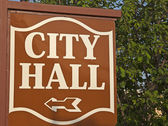 City Hall sign — Stock Photo