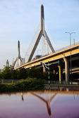 The Leonard P. Zakim Bunker Hill Memorial Bridge — Stock Photo