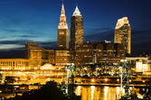 Cleveland during blue evening — Stock Photo
