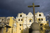 Cross in front of La Merced — Stock Photo