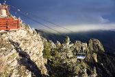 Tranvía de las montañas sandia — Foto de Stock