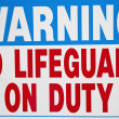 No Lifequard on duty — Stock Photo #11650098