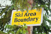 Ski area boundry — Photo
