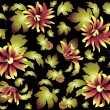 Seamless background from flowers ornament, fashionable modern wallpaper or textile.Chrysanthemum. — Stok Vektör #11536365