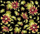 Seamless background from a flowers ornament, fashionable modern wallpaper or textile.Chrysanthemum. — Stok Vektör