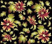 çiçek süsleme, şık modern duvar kağıdı veya textile.chrysanthemum sorunsuz arka plan. — Stok Vektör