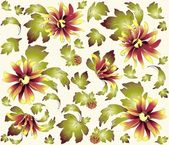 Seamless background from a flowers ornament, fashionable modern wallpaper or textile.Chrysanthemum. — Stock Vector