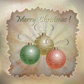 Schöne vektor-weihnachtskarte — Stockvektor
