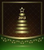 Tarjeta de año nuevo — Vector de stock