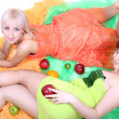 Two sexy women with fruits — Stock Photo #11791086
