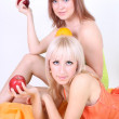 Two sexy women with fruits — Stock Photo #11791089