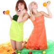 Two sexy women with fruits — Stock Photo #11791092