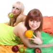 Two sexy women with fruits — Stock Photo #11791095