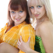 Two sexy women over white — Stock Photo #11791102