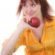 Young attractive woman with red apple — Stock Photo #11791107