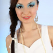 Stok fotoğraf: Portrait of beautiful woman with make-up