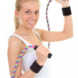 Royalty-Free Stock Photo: Blonde with skipping rope
