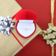 Gift boxes and ring box — Stock Photo