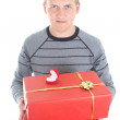 Young mwith gifts — Stock Photo #11792618