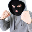 Bandit in mask - Stock Photo