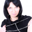 Young beautiful woman with chain — Stock Photo #11793659