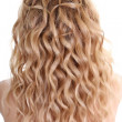 capelli curly — Foto Stock