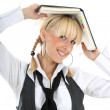 Royalty-Free Stock Photo: Portrait of blondie girl with book