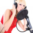 Stock Photo: Female singer