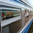 Stock Photo: Blue train