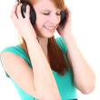 Teenager in headphones with close eyes — Stock Photo #11839976