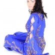 Royalty-Free Stock Photo: Brunette woman in blue arabian dress