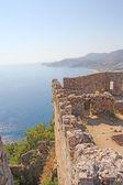 Fortress wall in Alanya Turkey — Stock Photo