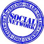 Grunge social network rubber stamp,vector illustration — Stock Vector #11905021