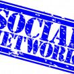 Grunge social network rubber stamp,vector illustration — Stock Vector #11905023