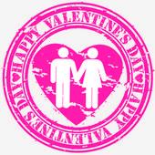 Grunge Happy Valentine's day rubber stamp, vector illustration — Stock Vector