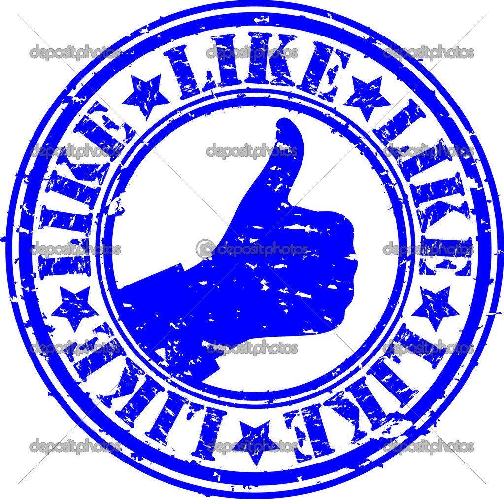 Grunge thumb up like rubber stamp, vector illustration  — Stock Vector #11905027