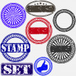 Grunge rubber stamp set, vector illustration — Stock Vector