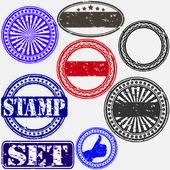 Grunge rubber stamp set, vector illustration — Stock Vector