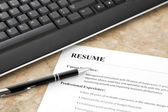 Resume on the Table — Stock Photo