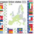 Royalty-Free Stock Imagen vectorial: European Union states complete collection