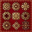Royalty-Free Stock Vectorielle: Oriental style ornament elements
