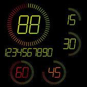 Digitale timer illustratie. — Stockvector