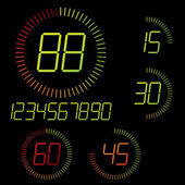 Illustration de la minuterie numérique. — Vecteur