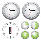 Clock illustration. — Stock Vector