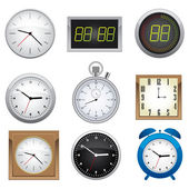 Clock set. — Stockvector
